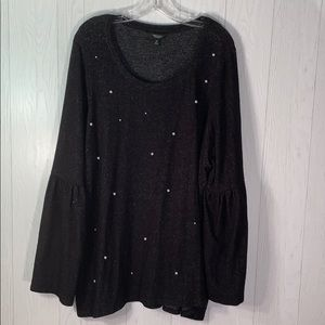 Simply Vera  Wang top size 2X fuzzy and cute!